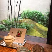 俵屋旅館の素敵なカフェ「遊形 サロン・ド・テ」