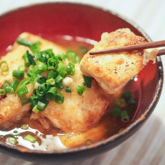 少ない油で簡単☆揚げ出し豆腐