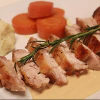 鶏肉のソテー 焦がし醤油ヨーグルト醤油ソース