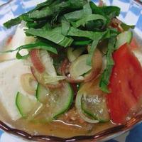 サバの味噌煮缶でお手軽に♪ トマト入り冷や汁