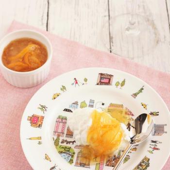 【お気に入りレシピ】冬至の残りのゆずジャムとヨーグルトのデザート