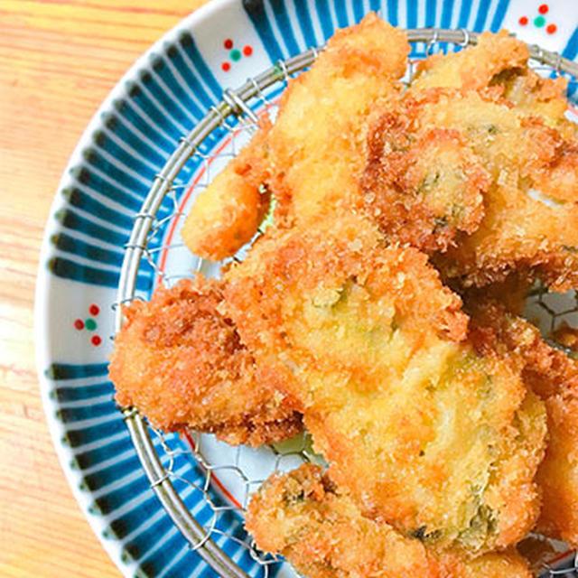 牡蠣フライ、きゅうりと三浦レディースのナムル