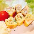 【時短パン】フライパンで☆ツナマヨ&ポテサラのロールパンサンド【米粉パン】