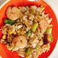 カラフル夏野菜の海鮮炒飯