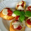 香り豊かなドライトマト・モツァレラ・バジルのバゲット