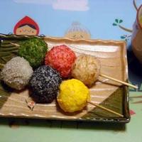 美味しいお米de~三色団子風おにぎりぃ~☆