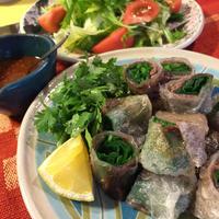 牛肉とニラのライスペーパー揚げ春巻き(4本)