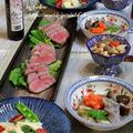 ◆ローストビーフと筍サラダのおうちごはん♪