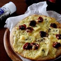 4種のペパーミックスで・・セミドライトマトの蕎麦粉入りピザ♪