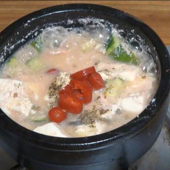 明太子豆腐チゲ作り方 -- ご飯にかけて食べると最高