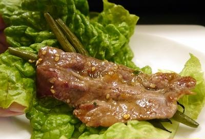 ★ 自家製焼肉ダレで牛の天肉