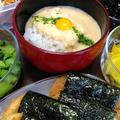大和芋の磯辺焼き&とろろ飯です☆