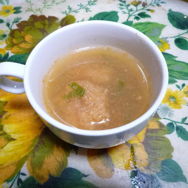 根菜団子のもちもちスープ