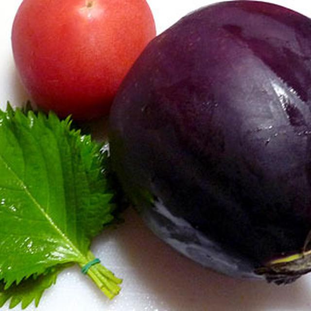 夏野菜の塩ぽん挟み蒸し