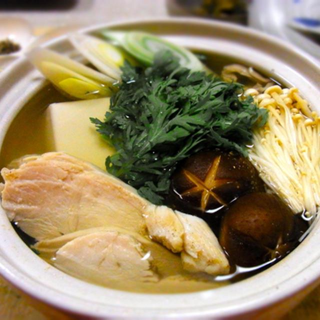 塩鶏(鶏ハム)の黄金スープ鍋 !!