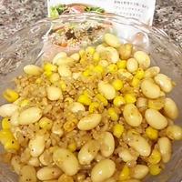大豆とコーンのグレインズサラダ