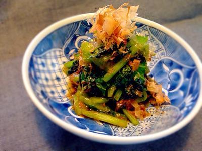 簡単すぎるの小松菜の和え物