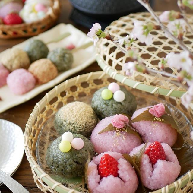 春の和菓子作り