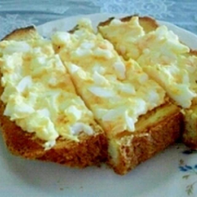 塩麹マヨタマのっけトースト