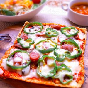 糖質制限にオススメ!「油揚げ」を使ったピザ風レシピ
