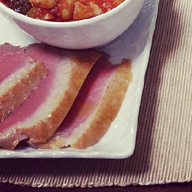 鴨ロースの自家製中華鍋スモーク