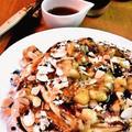 バナナ&アーモンドのパンケーキ ❤ チョコレートシロップがけ by mayumiたんさん