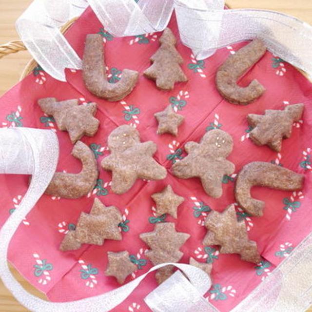 クリスマスココアクッキー♪~マクロビ仕様レシピ付き