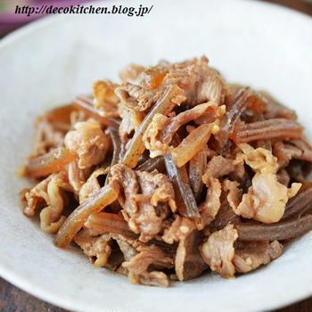 ご飯がススム常備菜「牛肉とこんにゃくの甘辛煮」~お弁当にも作り置きにも◎