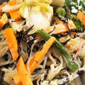 ■簡単5分!!デリ風サラダ【白菜漬と春雨ヒジキ・野菜入り】