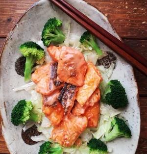フライパンひとつ♪切り身で簡単♪鮭マヨ