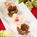 材料2つ簡単バレンタインお菓子♡コーンフレークのキュートな花♡大量生産OK友チョコにも