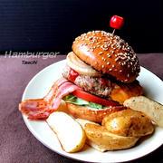 手作りハンバーガーとタマゴサンド
