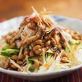 もずく酢納豆そうめん、もずく酢納豆は食べやすい!