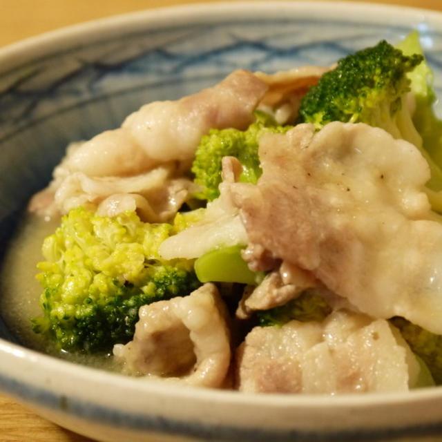 【レシピ】豚バラとブロッコリーのうま塩炒め