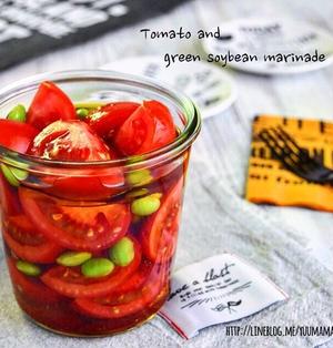 【作りおき】スグできる! トマトと枝豆の和風マリネサラダ*いろいろ仕込み中*