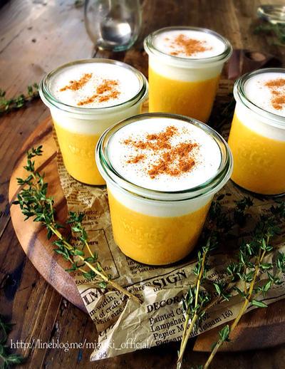 ♡混ぜて冷やして超簡単♡とろけるクリームかぼちゃプリン♡【#オーブン不要#卵不使用#時短#お菓子#スイーツ】