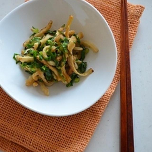 割り干し大根と大根菜の炒め物