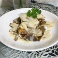 きのこたっぷり!白身魚のクリームソース