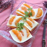 甘夏たっぷりとオレンジジュースと牛乳のゼリー by おなかがぺこりんさん