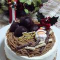 クリスマスのモンブランケーキ★cottaママの絶品スポンジケーキを使って