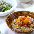 トマトオイスターだれ豚丼。 と、塩だし漬けの漬け汁で一品。の晩ご飯。 by 西山京子/ちょりママさん