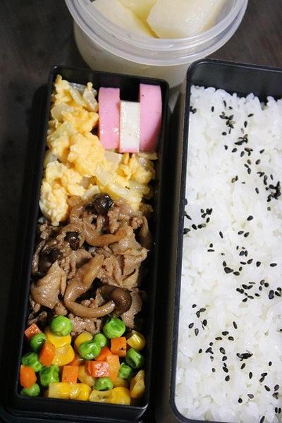 9月20日  豚肉の甘辛炒め弁当