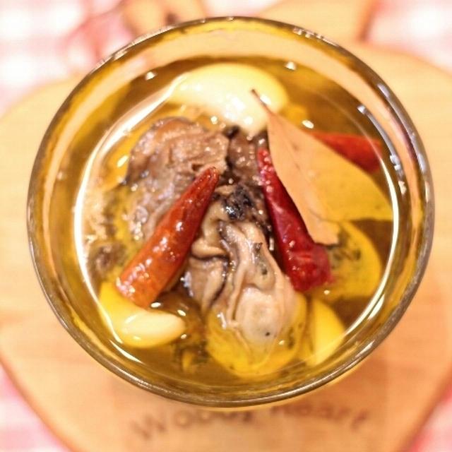 カフェレシピ☆牡蠣のオイル漬け