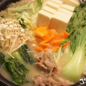 トップバリュ 豆乳ごま鍋つゆ坦々風&〆の担担麺