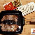 週末は簡単にステーキとレシピは赤パプリカのマリネ