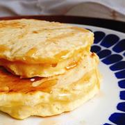 アーモンドミルクの厚焼きホットケーキ(10min.)