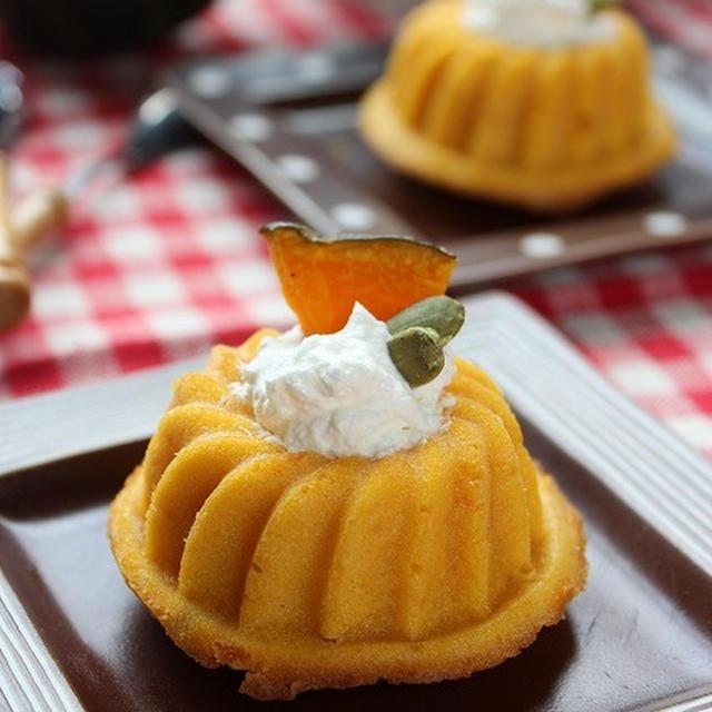 簡単!クリーム入りかぼちゃのケーキ