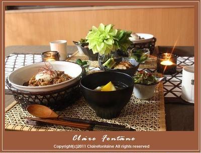 ピリ辛味噌豆腐丼で休肝日