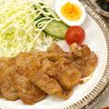 【和食】豚の生姜焼き&レンジで簡単湯豆腐&ほうれん草と人参の胡麻和えで晩ごはん。 by きちりーもんじゃさん