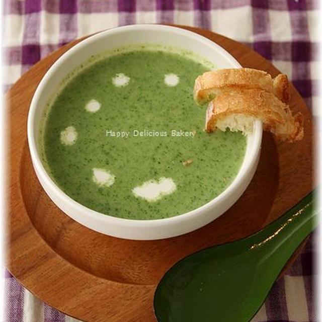 ブラウンマルチクイックでほうれん草のほっこりスープ♪&ショコラバゲット!